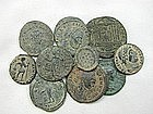 10 Ancient Roman Bronze Coins from Jerusalem
