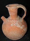 A HERODIAN TERRACOTTA SPOUT PITCHER