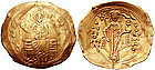 Byzantine Gold Coin with Christ Enthroned.