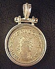 Roman Coin of Emperor Gallienus. Set in Silver Pendant