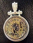 Roman Coin of Emperor Probus Set in Silver Pendant