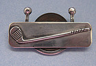 Sterling Golf Bar Pin Set with a Penny, c. 1950
