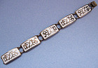 Sterling and White Enamel Bracelet, c. 1960