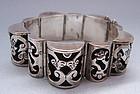Los Ballesteros Sterling Openwork Bracelet, c. 1950