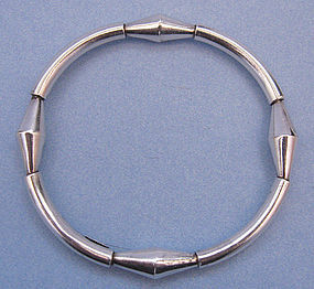 Los Ballesteros Sterling Bangle, c. 1980