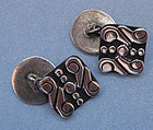 Mexican Sterling Cuff Links, c. 1955