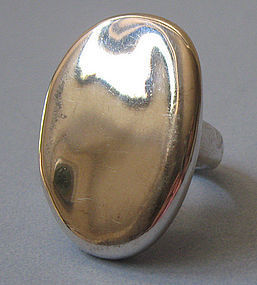 Sterling Handmade Flat-Top Ring, c. 1965