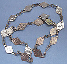 Peruvian Sterling Chain Necklace, c. 1965