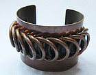 Rebajes Copper Cuff with Wire Decoration, c. 1955