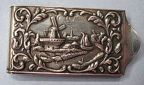 European Sterling Money Clip, c. 1960