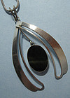 Handmade Sterling and Stone Pendant, 1973