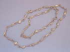 Danish Handmade Silverplated Chain Necklace, c. 1975