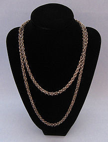 Sterling Kinetic Chain Necklace, c. 1970