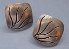 Handmade Sterling Earrings by Joseph Skinger, c. 1950
