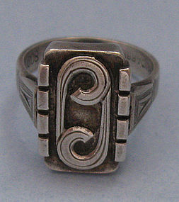 Handmade German .800 Silver Ring, c. 1950