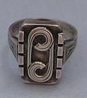 Handmade German .800 Silver Ring, c. 1950