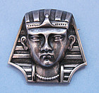 Sterling Pharoah's Head Pin, c. 1950