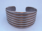 Sterling Ribbed Cuff, c. 1960