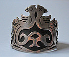 Mexican Sterling Bird Cuff, c. 1970