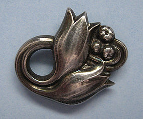 Georg Jensen Sterling Tulip Pin, Post-1945