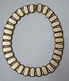 Norwegian Sterling and Enamel Necklace, c. 1955