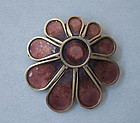 Scottish Sterling and Enamel Pin, 1972