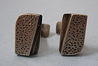 Ed Wiener Sterling Handmade Cuff Links, c. 1955