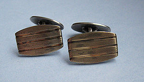European Silver-Gilt Cuff Links, c. 1955