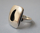 Sterling Modernist Ring, Joseph Skinger, c. 1950