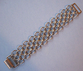 Sterling Bracelet of Interlocking Links, c. 1960