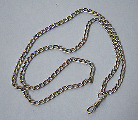 American Sterling Silver Watch Chain, c. 1920