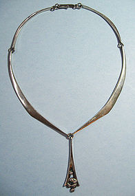 Hand-Forged Sterling Neck Ring, c. 1980