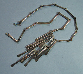 Mexican Sterling Modernist Necklace, c. 1960