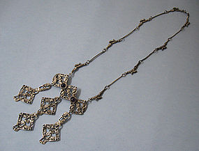 Sterling and Amethyst Necklace, c. 1980
