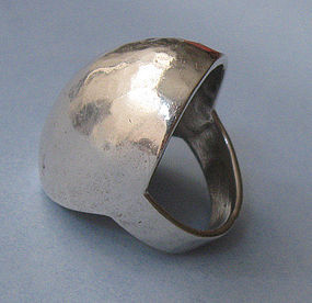 Sterling Domed Ring, c. 1970