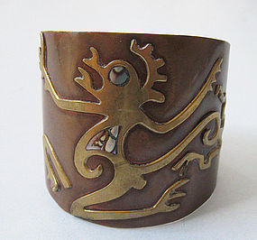 Mexican Mixed-Metal Cuff, c. 1960
