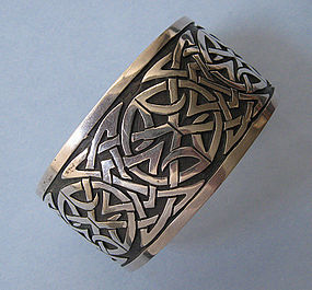 Sterling Hand-Wrought Embossed Cuff, c. 1975