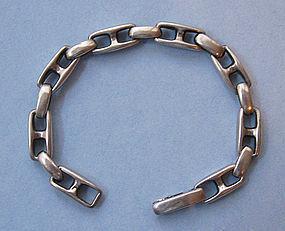 Italian Sterling Link Bracelet, c. 1970