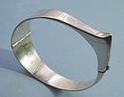 Handmade Silver Hinged Bangle, c. 1960