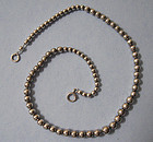 Sterling Silver Bead Necklace, c. 1960
