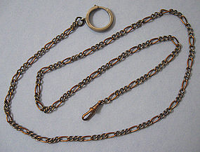 Copper and White Metal Chain, c. 1900