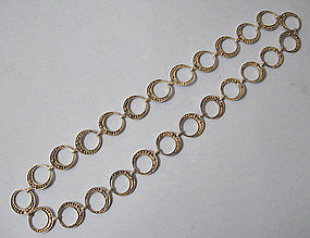 Silver Hoop Necklace, c. 1960