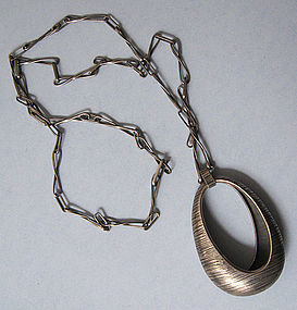 Polish Modernist Pendant and Chain, c. 1965