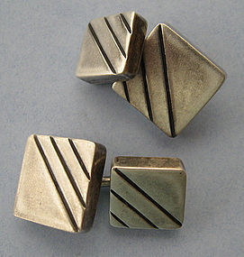 Mexican Sterling Cuff Links, c. 1960