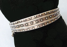 Finnish Sterling Hinged Bangle, 1993