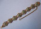 Italian Silver Gilt and Enamel Bracelet, c. 1950