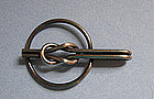 Sterling Silver Knot Money Clip, c. 1950