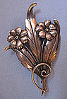Sterling Floral Pin, c. 1950