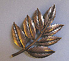 Sterling Leaf Pin, c. 1960