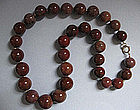 Necklace of Large Agate Beads, c. 1970